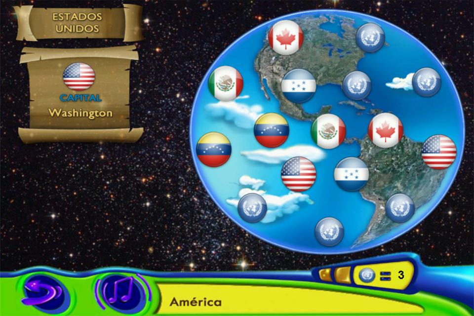 Screenshot Dikie & Dukie: Learn Geography in Spanish